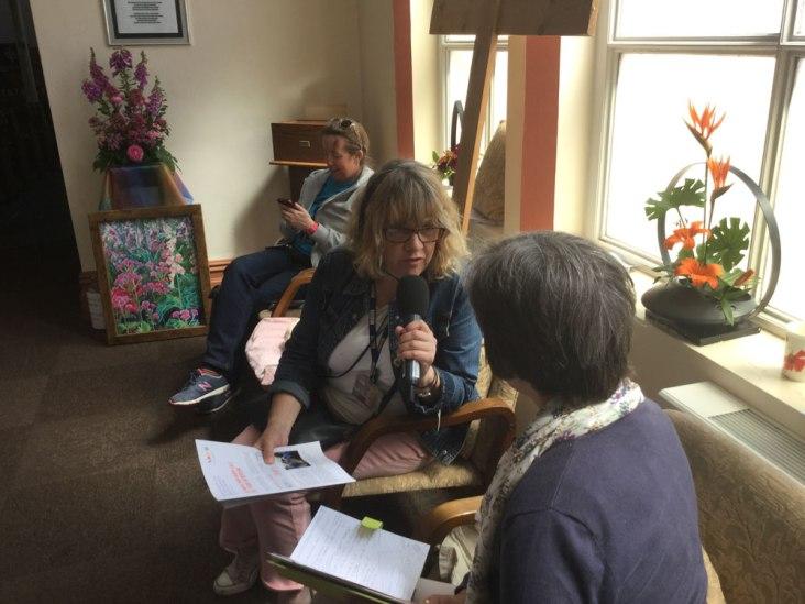 BBC Radio Humberside live broadcast from Flower Festival