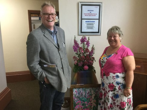 BBC Radio Humberside celebrity welcomed to open Flower Festival